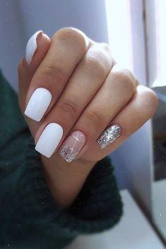 Bridal Nails Designs, Bridal Nail Art, Wedding Nails Design, Nagellack Design, Bride Nails, Pretty Nail Art, Dipped Nails, Nagel Gel, Best Acrylic Nails