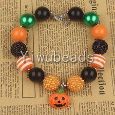 New-Pumpkin-Pendant-Chunky-Gumball-Bubblegum-Beads-Necklace-Bracelet-Jewelry-55