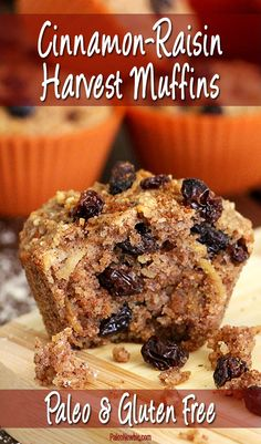 Moist and delicious you'll love the flavor of this wheat-free and refined sugar-free paleo-friendly muffin recipe w/ apple raisins maple syrup and spices.