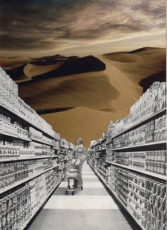 consumed / collage by Tim Lukeman #art #collage