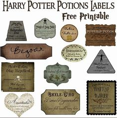 Pin for Later: Everything You Need For a Magical Harry Potter Party Make Your Own Potions Decor