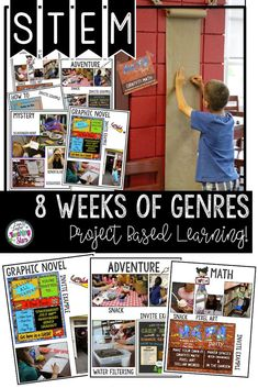 Get your elementary students excited about reading about different genres. This packet has 8 different weekly genres topics included with station suggestions and material lists.  These activities will get your students excited about reading! These are gre