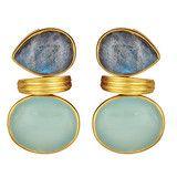 Medici Earrings, Chalcedony, Moonstone, Labradorite, more
