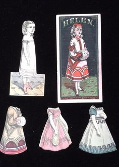 "Antique 1870's Set of McLoughlin Bros Paper Dolls ""Helen"" | eBay"