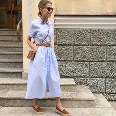 На Марине @mgolomazdina • платье-рубашка в клетку (бело-голубое) #12Storeez…