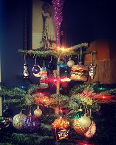 Good enough to eat   #AlternativeChristmas #christmasdecorations #christmasdecor #festive #festivevibes #ChristmasTree #PineTree #GlassDecorations #Sainsburys #Paperchase #Tiger #myxmasvibe #DarkChristmas #colourmychristmas