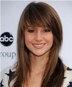 Wispy Bangs Long Sleek Hairstyle~ this would look good on u to Allyson :)