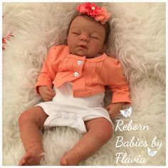 """Baby Ninna kit Sarah Asleep by Kim Van de Wetering   About 16""""/46cm Body in suede/Vinyl Parts Reborn by Reborn Babies by Flávia  Disponible/Disponible also about order"""