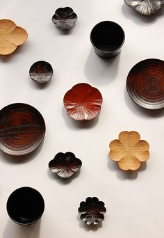 Lacquer ware by Takashi Tomii, 富井貴志, Japanese Design, Japanese Style, Wood Design, Wood Turning, Kitchenware, Wood Art, Wood Projects, Dinnerware, Woodworking