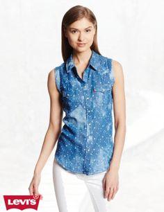 Levi's Women's Chambray Wave Muscle Shirt