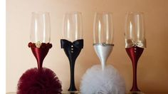 decorating with corona beer bottles Champagne Bottles, Champagne Glasses, Wedding Glasses, Beer Bottle, Party Themes, Bridal Shower, Diy Crafts, Flutes, Gifts