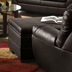 United Furniture Industries 9515-095 Soho Onyx Storage Ottoman
