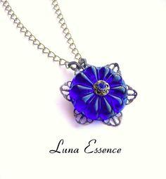 Vintage Necklace  Pendant  Royal Blue  Romantic  by LunaEssence, $47.95 More Luna Essence http://www.etsy.com/shop/LunaEssence?ref=top_trail