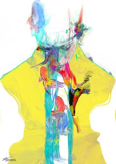 New Delhi-based illustrator Archan Nair creates fluorescent digital art with a painterly effect. Nair composes kaleidoscopic images that resemble Rorschach ink blots. Wisps of color tumble like...