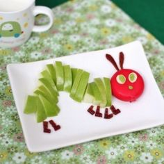 Tones of The Hungry Caterpillar inspired stuff. Including this healthy snack every kids would love.