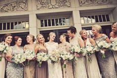 Shades of silver wedding #bridesmaids #silver #shadesofsilver #wedding