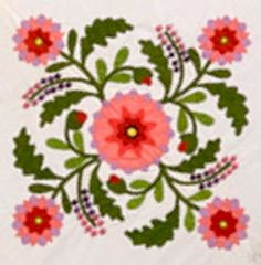 Pennsylvania Beauty by Common Threads in Waxahatchie    We put this dynamic block in the center of our Emporia Rose applique quilt.     ...