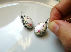 Sleeping Beauty from Stories Made By Hands Spring Earrings Polymer Clay | by Magdalena Pavlovic
