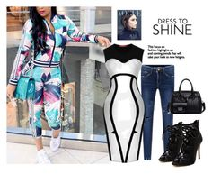 """dress to shine"" by suger-520 ❤ liked on Polyvore featuring Victoria Beckham, jumpsuit and lovelywholesale"