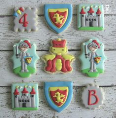 Noble Knights - Knight and Dragon Birthday Themed Decorated Sugar Cookies