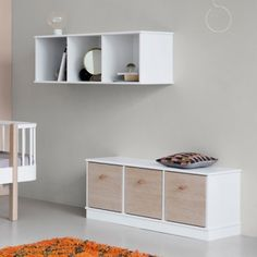 Oliver furniture shelving unit 3 x 1 with base Small Shelving Unit, Wood Shelving Units, Wood Shelves, Floating Shelves, Oliver Furniture, Small Furniture, Classic Furniture, Extra Storage, Storage Boxes