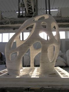 3D Printing sand in large sizes by D-Shape (Enrico Dini, Italy)