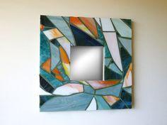 Nautique mosaïque miroir miroir mosaïque bleu par irmaKdesigns