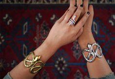 I will always love snake cuffs.