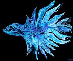 Betta Blue Light by Abstract Angel Artist Stephen K Alien Artist, Real Genius, Framed Prints, Canvas Prints, Light Painting, Betta, Fine Art America, Light Blue, Museum