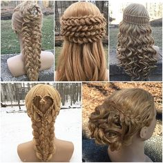 a collage of hairstyles hair.by.clo