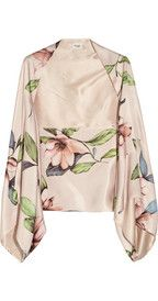 TEMPERLEY LONDON  Rosine printed silk shrug