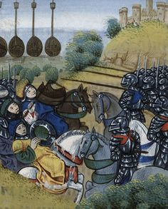 Battle of the Hungarian and Turkish army from BL Royal 20 C IX, f. 278v by Jean Chartier, 1475 - 1499. The British Library, Public Domain