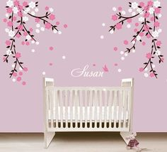 Big Flower Wall Decal Flower Wall Decals Hallways And Alphabet - Wall stickers for girls
