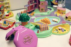 Olney Village POLLY POCKET. Massive wave of nostalgia - I used to have one of those big ones. Polly Pockets were the best things ever! I miss being a kid.