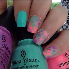 Multicolor ombre neon nails for summer Love Nails, How To Do Nails, Pretty Nails, Fun Nails, Fabulous Nails, Cute Nail Designs, Beautiful Nail Art, Creative Nails, Manicure And Pedicure