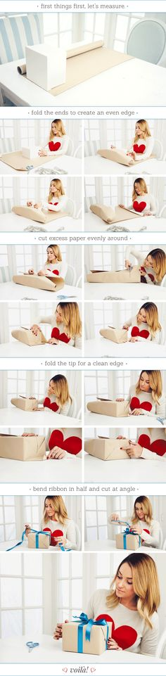 how to wrap a perfect present, for those of y'all who don't know how to wrap like me!