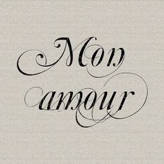 French Script Transfers | French Script Amour My Love Valentines Wall Decor Art Printable ...