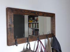 Mirror coat rack - rustic mirror - antique hooks - entryway mirror - coat hanger - rustic coat rack - entryway organizer -handmade in Greece by CraftersCalendar on Etsy https://www.etsy.com/listing/249463504/mirror-coat-rack-rustic-mirror-antique