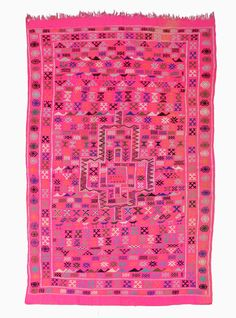 A pink fairytale with embroidered Berber symbols, handpicked in Morocco by kira-cph.com.