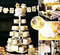What a hoot! This gender neutral Yellow & Gray Owl Themed Twin Baby Shower with printables by One Inspired Party (+ an amazing cake tower by Cake Designs By Edda and stunning photos by Studio by Carmen - Photography) is so cute! ‪#‎Owl‬ ‪#‎BabyShower‬ ‪#‎Twins‬ http://hwtm.me/16k09j0
