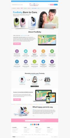FosBaby - Partly design an area of the home page for a new product by little fish