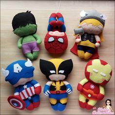 KIT Super Herois de Feltro