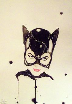 Catwomanby ~NelyaBelka. Plain out-YES!! Love Cat Woman!!! The drips of paint fit perfectly.