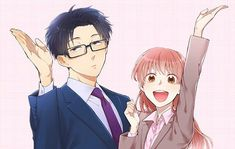 Wotakoi: Love is Hard for Otaku Otaku Anime, Anime In, Manga Anime, Anime Siblings, Cute Anime Couples, Kawaii Anime, Manga Rock App, Vocaloid, The Garden Of Words