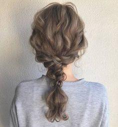 Haircuts For Wavy Hair, Ponytail Hairstyles, Cute Hairstyles, Short Hair Cuts, Wedding Hairstyles, Hair Arrange, Silk Hair, Look Fashion, Her Hair