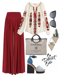 be different babe by kata-szabo on Polyvore featuring polyvore fashion style Calypso St. Barth Pierre Hardy Chanel Fendi clothing