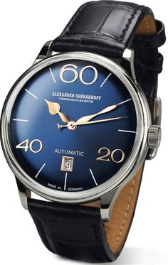 Alexander Shorokhoff Watch Sixtythree #add-content #bezel-fixed #bracelet-strap-leather #brand-alexander-shorokhoff #case-depth-11-3mm #case-material-steel #case-width-40mm #cws-upload #date-yes #delivery-timescale-call-us #dial-colour-blue #discount-code-allow #gender-mens #luxury #movement-automatic #new-product-yes #official-stockist-for-alexander-shorokhoff-watches #packaging-alexander-shorokhoff-watch-packaging #style-dress #subcat-sixtythree #supplier-model-no-as-la02-3