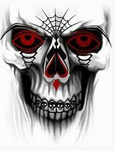 Gansta Skulls Gangster Clown Girl Amp Skull Dice Skulls And Bones Art Pinterest Skulls