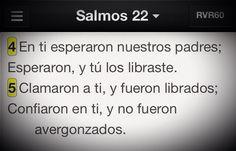 Cumple tu liberación también en nosotros #Promesa Salmo 22:4-5