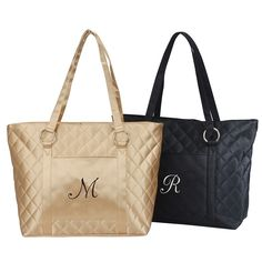 """Quilted Tote Bag Size: 18""""L x 12.5"""" x 5.5"""